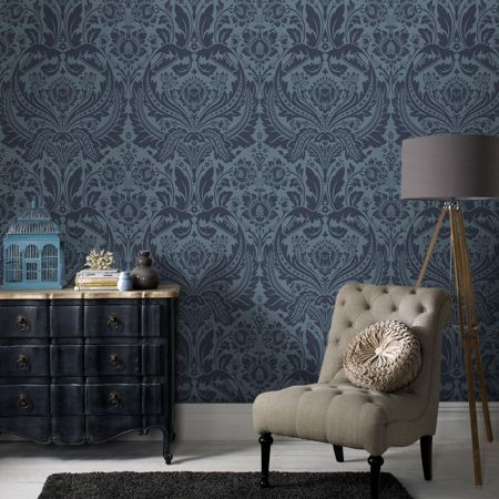 Graham & Brown Blue petrol desire wallpaper