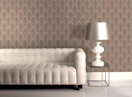 Graham & Brown Cream taupe soprano wallpaper