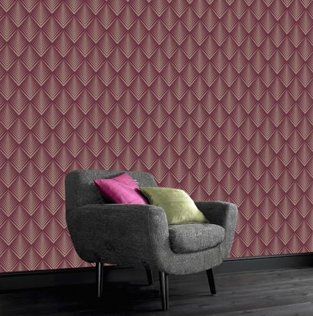 Graham & Brown Raspberry soprano wallpaper