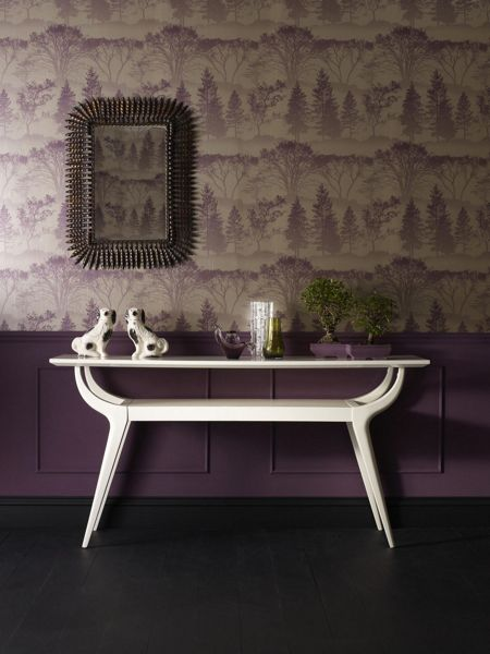 Graham & Brown Purple damson mirage wallpaper