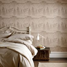 Graham & Brown Cream latte mirage wallpaper