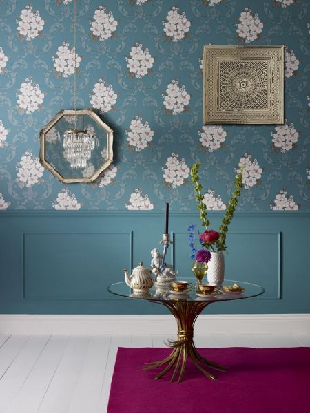 Graham & Brown Blue teal dauphin wallpaper