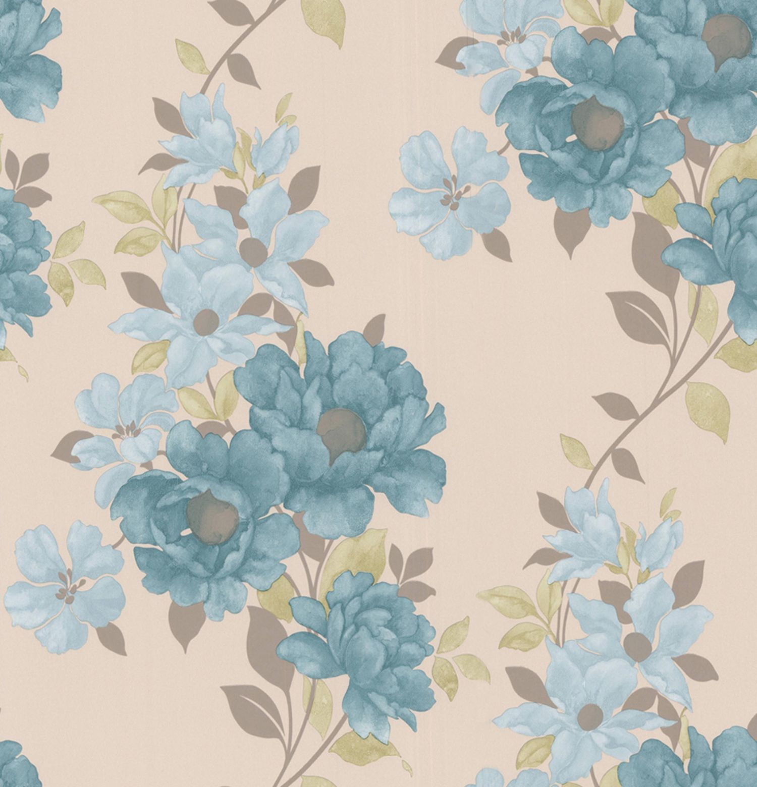 Light blue teal duchessa wallpaper