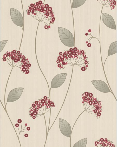 Graham & Brown Red claire wallpaper
