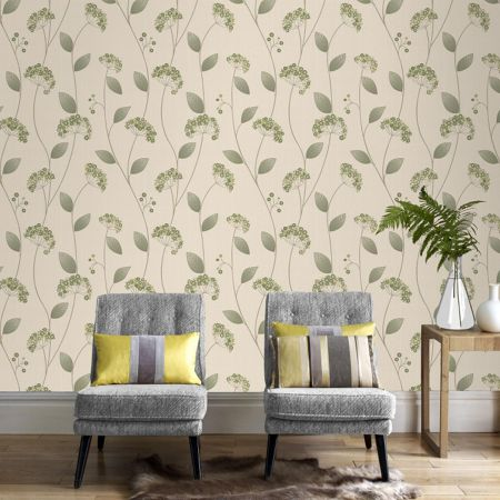 Graham & Brown Green claire wallpaper