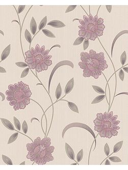 Pink lavender/cream sadie wallpaper