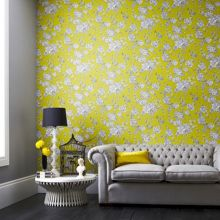 Graham & Brown Chartreuse kensington wallpaper