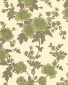 Green/cream kensington wallpaper