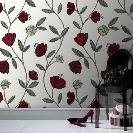 Graham & Brown Red capri wallpaper