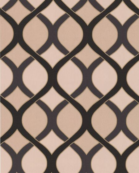 Graham & Brown Black/gold highbury wallpaper