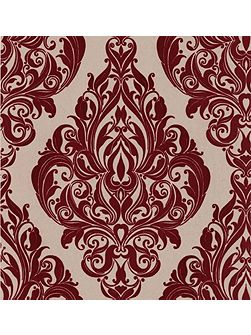 Red bordeaux bordello kinky vintage wallpaper