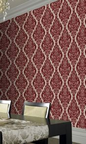 Graham & Brown Red bordeaux bordello kinky vintage wallpaper
