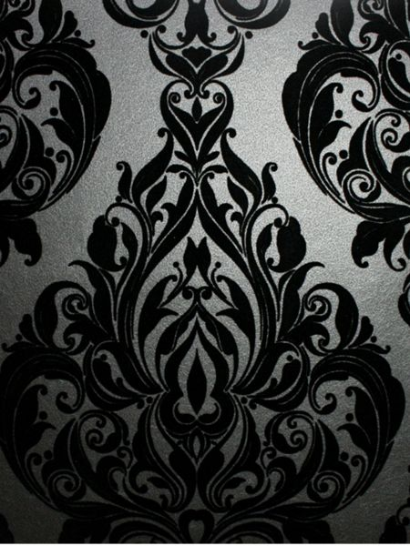 Graham & Brown Black naughty noir kinky vintage wallpaper