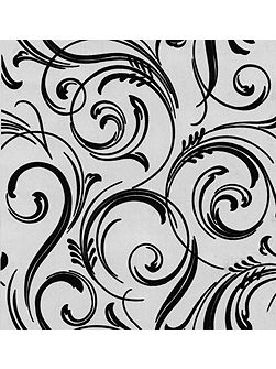 Black charcoal swirly wurly cheeky wallpaper