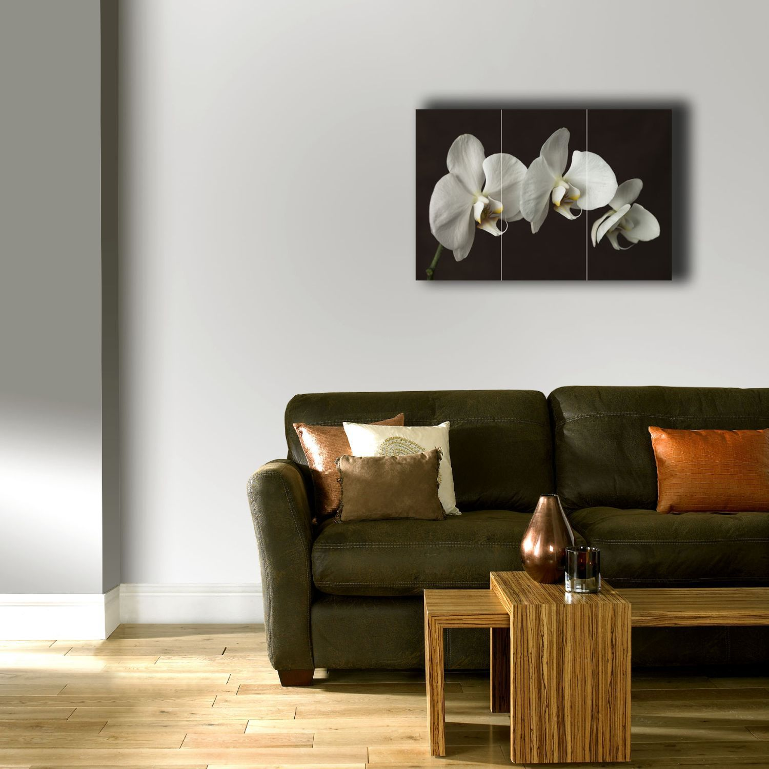 Chocolate orchid wall art