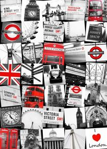 Graham & Brown London montage wall art
