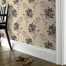 Graham & Brown Plum burst wallpaper
