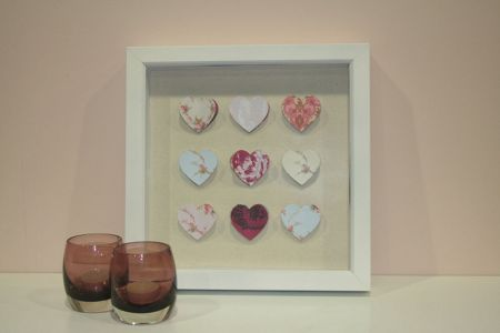 Graham & Brown Hearts corsage wall art