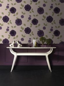 Graham & Brown Violet Charlotte Floral Wallpaper