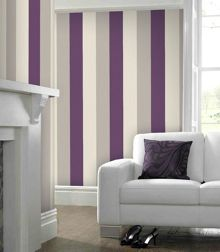 Graham & Brown Plum stria wallpaper
