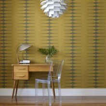 Graham & Brown Yellow mustard vintage do the stretch wallpaper