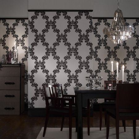 Graham & Brown Black/white regency wallpaper