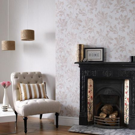 Graham & Brown Natural acanthus wallpaper