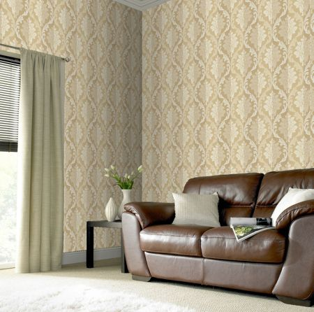 Graham & Brown Cream splendour wallpaper