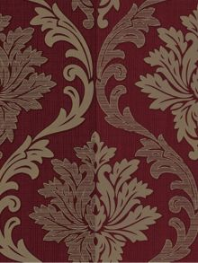 Graham & Brown Red/cream splendour wallpaper