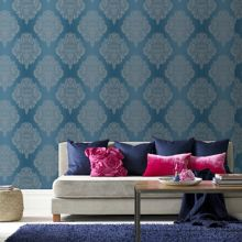 Blue teal cote couture wallpaper