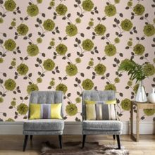 Graham & Brown Spring Green Charlotte Floral Wallpaper