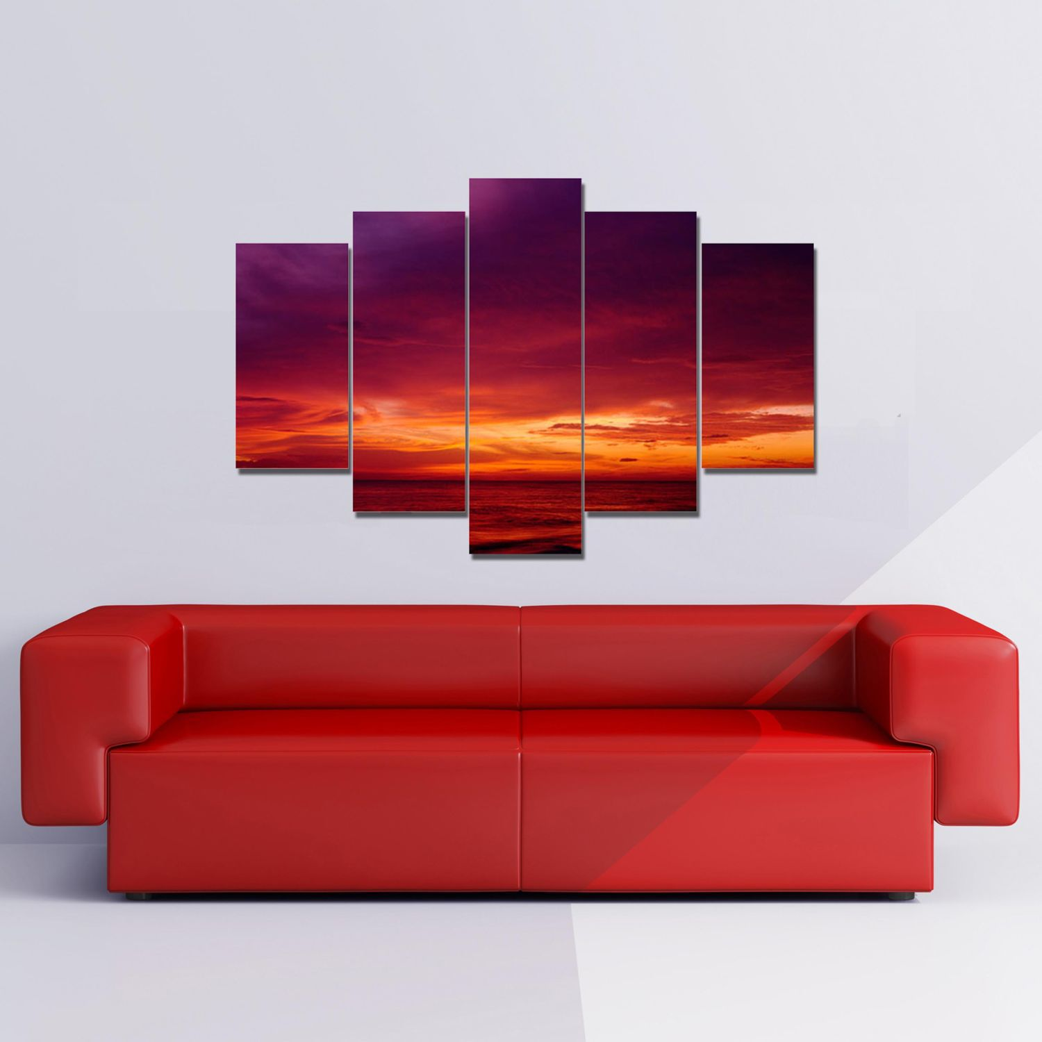 Drama sunset wall art