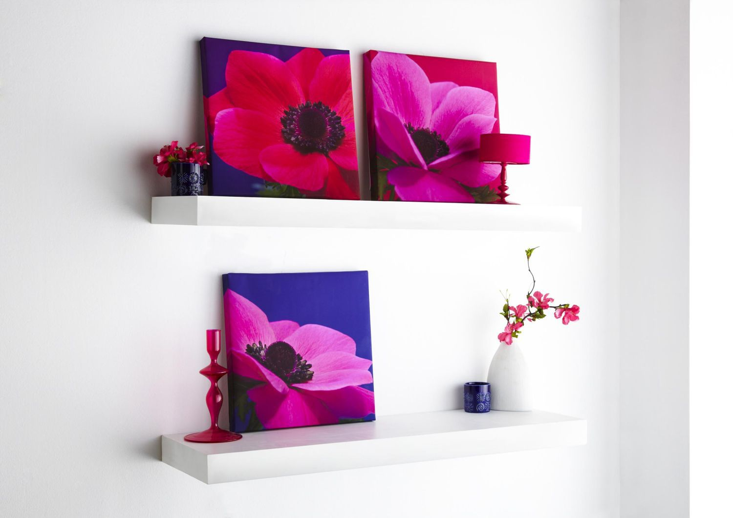 Jewel florals wall art