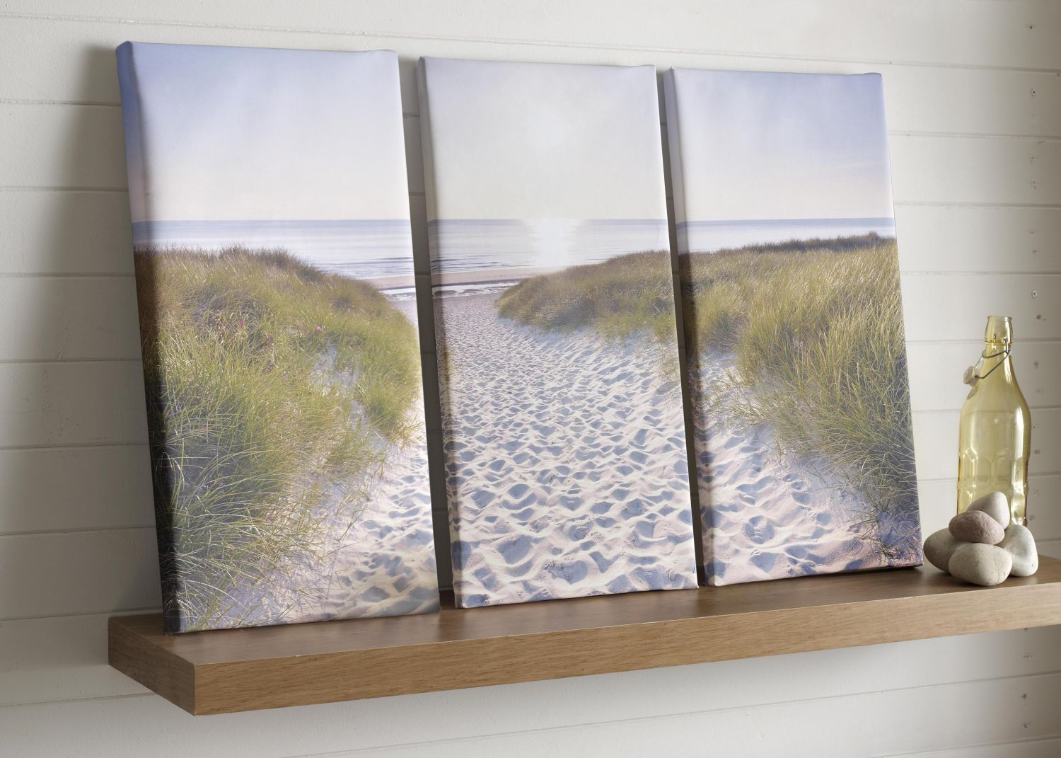 Beach walk wall art