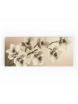Cream Orchid Branch Printed Canvas