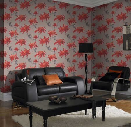 Graham & Brown Red/taupe fabulous wallpaper