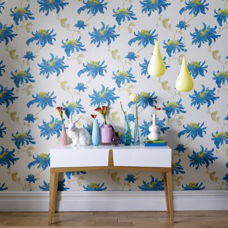 Graham & Brown Pearl/teal fabulous wallpaper