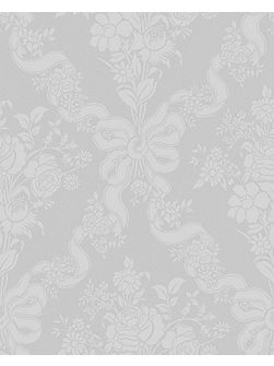 White damask glimmerous wallpaper