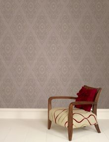 Graham & Brown Mocha taupe/gold jewel wallpaper