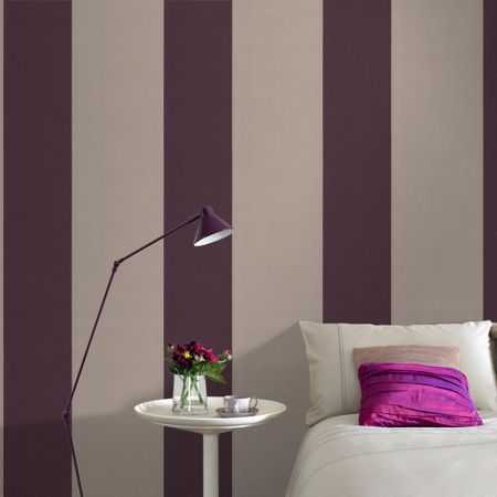 Graham & Brown Purple damson/cappucin glitz wallpaper