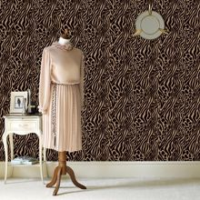 Graham & Brown Gold caffe easy tiger flock wallpaper