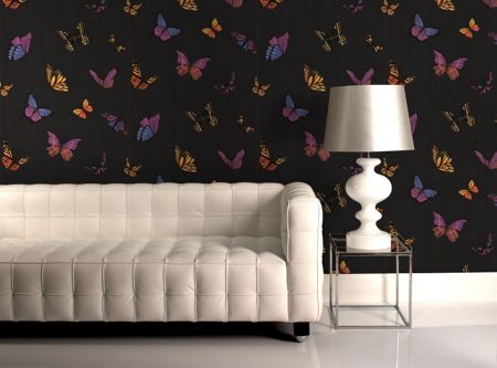 Graham & Brown Black flutter by wallpaper