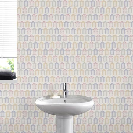 Graham & Brown Yellow beside the seaside wallpaper