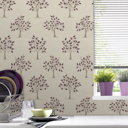 Graham & Brown Plum willow wallpaper