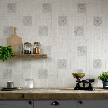 Graham & Brown Grey parsley wallpaper