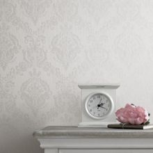 Graham & Brown White shimmer damask wallpaper