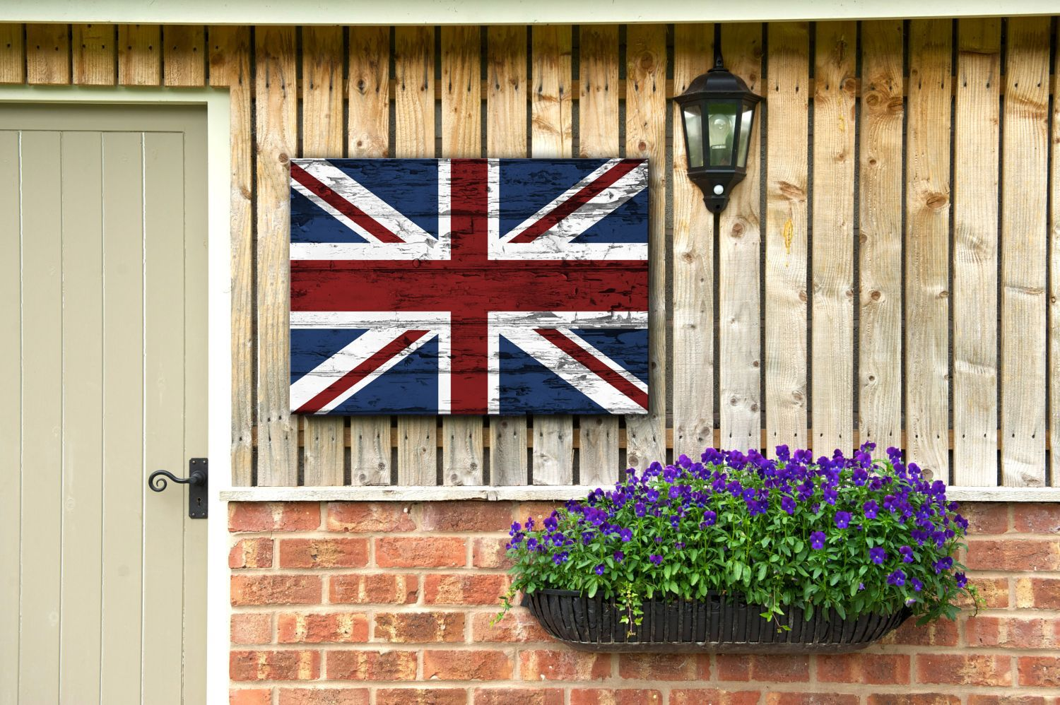 Rustic union jack wall art