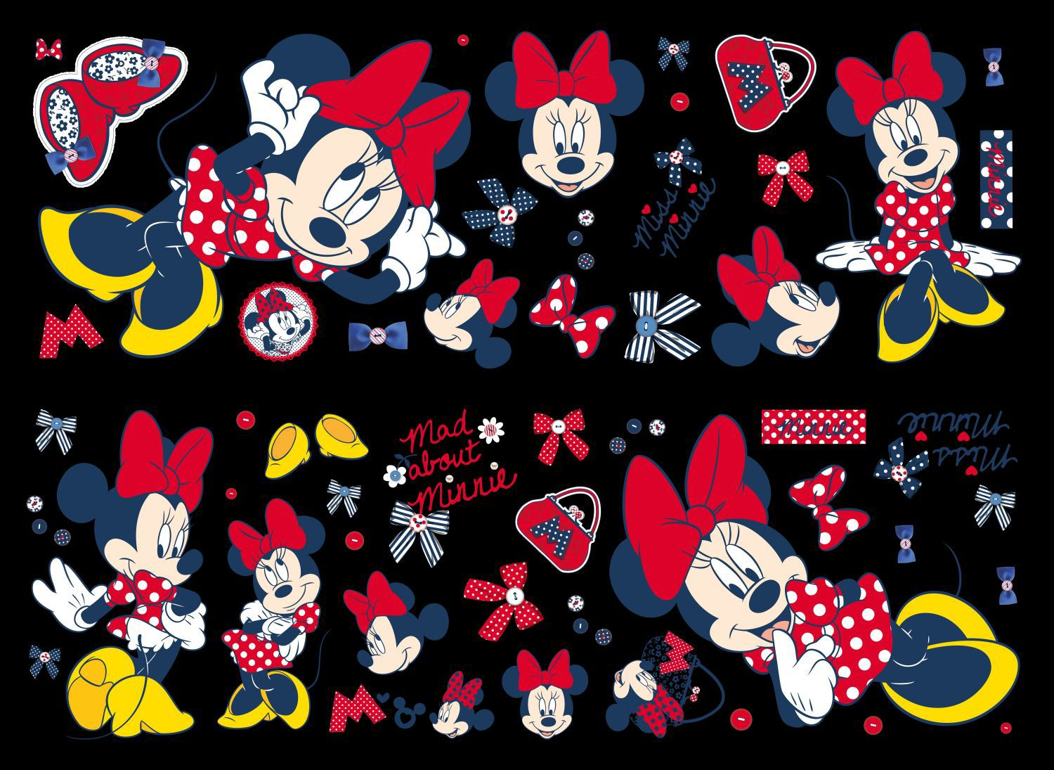 Graham & Brown Minnie Mouse Wall Sticker, Brown
