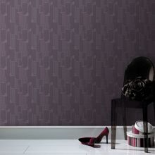 Graham & Brown Plum easy ponder wallpaper