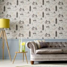 Graham & Brown Blue jubilee design wallpaper